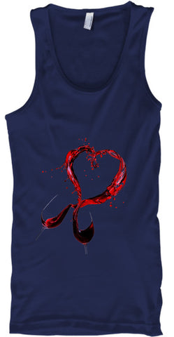Wine Lover Heart Glasses - lkrseller, Tank Tops ,