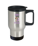 Camel Pose Yoga Namaste Travel Mug - lkrseller, Travel Mug ,