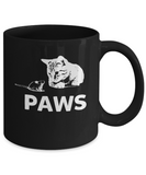 Jaws Aka Paws Cute Cat Kitten And Mouse Coffee Mug - lkrseller, Mugs ,