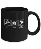 Eat Pizza Sleep and Slay Dragon Gamer Coffee Mug - lkrseller, Coffee Mug ,