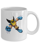 Wolverine Emoji Superhero Coffee Mug - lkrseller, Mugs ,