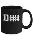 Football D Fence Defense Funny Coffee Mug - lkrseller, Mugs ,