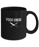 Food Snob Funny Foodie Fork Knife Drinking Coffee Mug - lkrseller, Coffee Mug ,