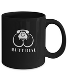 Butt Dial Funny Phone Call Gag Gift Coffee Mug - lkrseller, Mugs ,