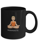 Namaste Meditation Breathe Pose Drinking Coffee Mug - lkrseller, Coffee Mug ,