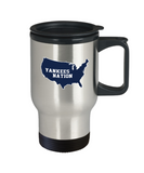 Yankees Nation Baseball USA Map Travel Mug - lkrseller, Travel Mug ,