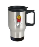 Fryday Fries On A Friday Foodie Travel Mug - lkrseller, Travel Mug ,