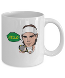 Hello Tennis Player Spain Nadal Racket Coffee Mug - lkrseller, Coffee Mug ,