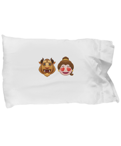 Beauty And The Beast Emoji Heart Lion Bedding Pillow Case - lkrseller, Pillow Case ,