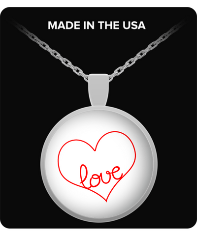 Love Necklace Heart Lover Valentines Day Gift - lkrseller, Necklace ,