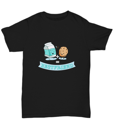 Best Friend Milk And Cookies Chocolate Chip Cookie T-Shirt - lkrseller, Shirt / Hoodie ,