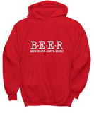 Beer Brew Enjoy Empty Repeat Funny Drinking Sweater Hoodie - lkrseller, Shirt / Hoodie ,