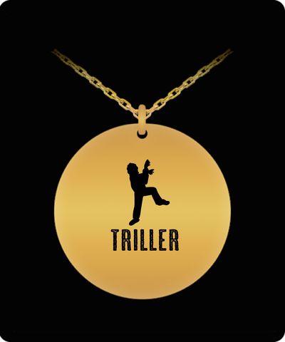 Triller Michael Jackson MJ Dance Laser Cut Necklace - lkrseller, Laser Engraved Necklace ,