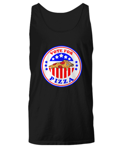 Vote For Pizza Funny Slice Lover For President Tank Top - lkrseller, Tank Tops ,