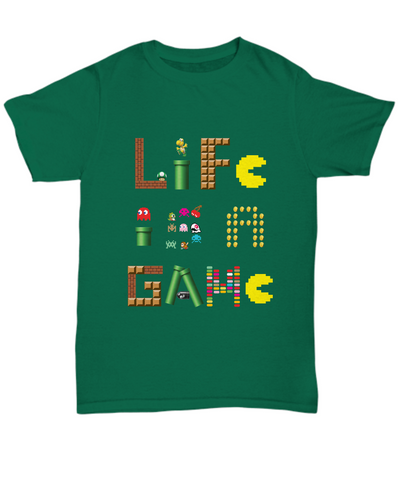 Life Is A Game Video Games Vintage Classic Gamer T-Shirt - lkrseller, Shirt / Hoodie ,