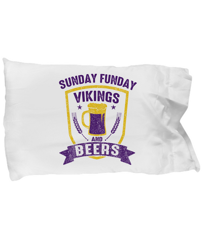 Sunday Funday Vikings And Beers Football T-Shirt - lkrseller, Pillow Case ,