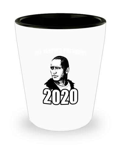 The People's Champ 2020 President Da Rock Drinking Coffee Mug - lkrseller, Shot Glass ,