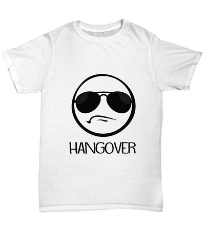 Hangover Funny Party Emoji With Shades T-Shirt - lkrseller, Shirt / Hoodie ,