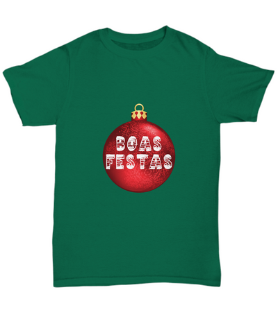 Boas Festas Happy Holidays Portuguese Ornament T-Shirt - lkrseller, Shirt / Hoodie ,
