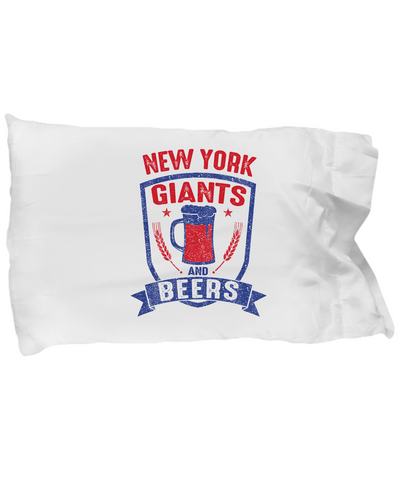New York Giants And Beer Sunday Funday Bedding Pillow Case - lkrseller, Pillow Case ,