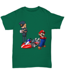 Racing Car Character Caught Cops T-Shirt - lkrseller, Shirt / Hoodie ,