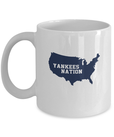 Yankee Nation United States Map Baseball Coffee Mug - lkrseller, Mugs ,