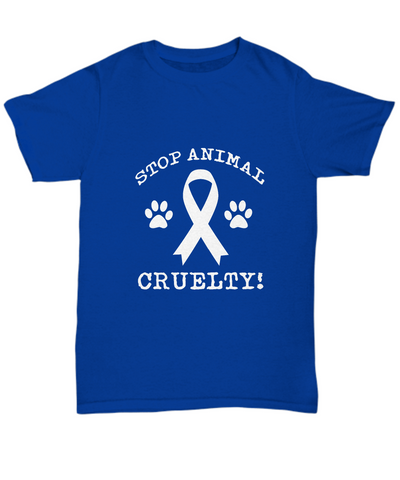 Stop Animal Cruelty! Paws Ribbon Save Dogs and Pets T-Shirt - lkrseller, Shirt / Hoodie ,
