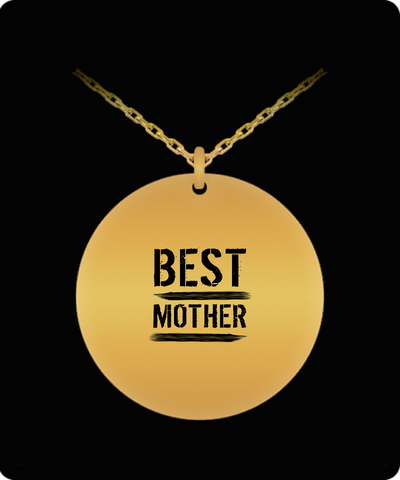 Best Mother 18K Gold Plated Chain - lkrseller, Laser Engraved Necklace ,