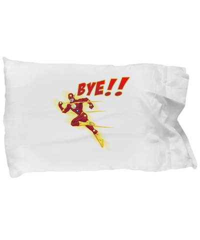 Bye!! Flash Super Hero Running Fast Drinking Coffee Bedding Pillow Case - lkrseller, Pillow Case ,