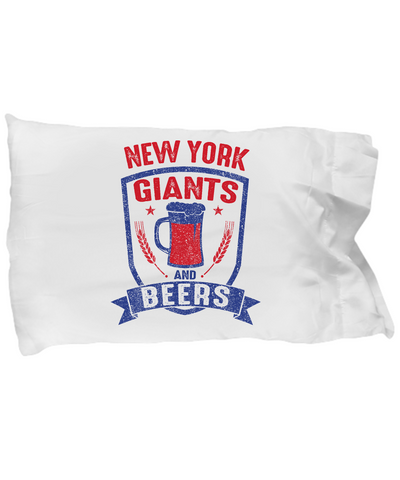 New York Football Funday Sunday And Beers Pillow - lkrseller, Pillow Case ,