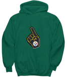 Pittsburgh Foam Finger Football Thumbs Up Drinking Hoodie - lkrseller, Shirt / Hoodie ,