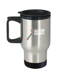 Autism Awareness Ribbon April Month Travel Mug - lkrseller, Travel Mug ,