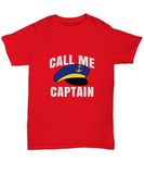 Call Me Captain Boat Cruise Ship Hat T-Shirt - lkrseller, Shirt / Hoodie ,