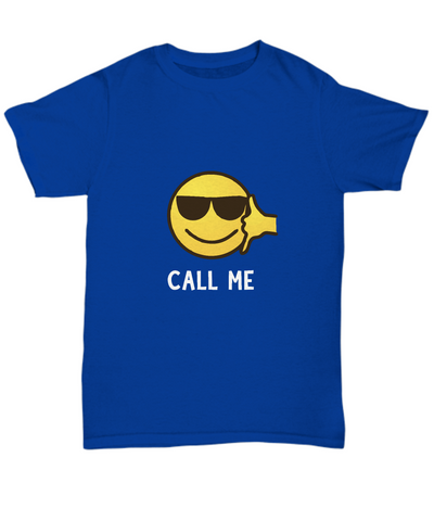 Call Me Shades Sunglasses Emoji T-Shirt - lkrseller, Men's Shirts ,