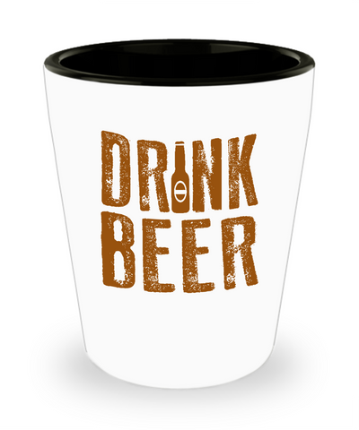 Drink Beer For Beer Lovers Bottle Drinking Shot Glass - lkrseller shirts Shot Glass, t-shirts, hoodies, tank tops, custom