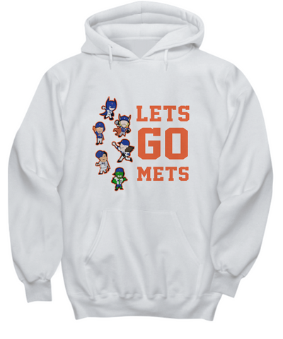 Let's Go Mets Thor Action Figures Playing Hoodie - lkrseller, Shirt / Hoodie ,
