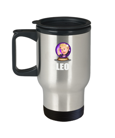 Walter Mercado El Mundo Zodiac Sign Leo Travel Mug - lkrseller, Travel Mug ,