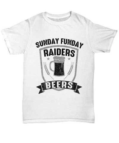 Sunday Funday Raiders And Beers T-Shirt - lkrseller shirts Shirt / Hoodie, t-shirts, hoodies, tank tops, custom