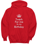 Twerk For Me It's My Birthday Funny Awesome Hoodie - lkrseller, Shirt / Hoodie ,