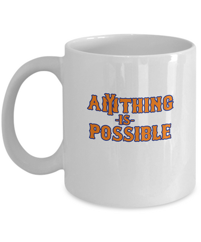 Anything Is Possible New York Baseball Coffee Mug - lkrseller, Mugs ,