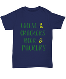 Cheese and Crackers Beer and Football Tee Shirt - lkrseller, Shirt / Hoodie ,