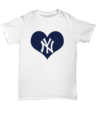 New York Baseball Heart Lover Bx Bomber Baseball T-Shirt