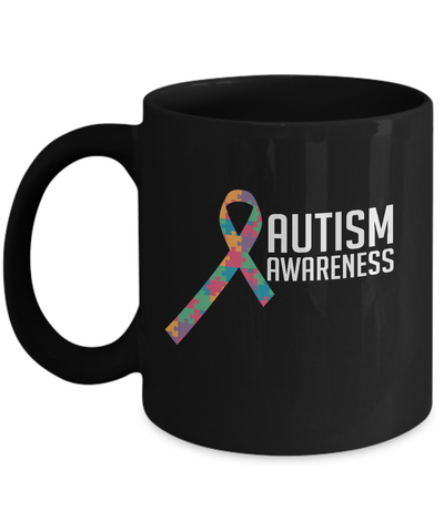 Autism Awareness Ribbon Coffee Mug - lkrseller, Mugs ,
