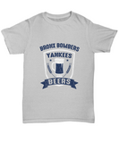 Bronx Bombers Yankees and Beers Baseball T-Shirt - lkrseller, Shirt / Hoodie ,