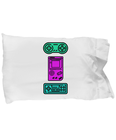 Video Gamer Controllers Vintage Classic Bedding Pillow Case - lkrseller, Pillow Case ,