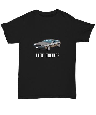 Time Machine Delorean Classic Car Movie 80's T-Shirt - lkrseller, Shirt / Hoodie ,
