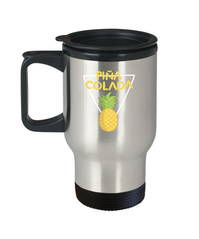 Pina Colada Pineapple Drinking Summer Travel Mug - lkrseller, Travel Mug ,