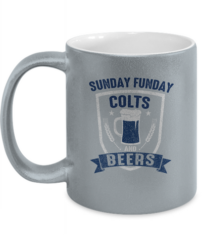 Sunday Funday Colts And Beers Drinking Coffee Mug - lkrseller, Coffee Mug ,