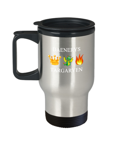 Daenery's King Crown Dragons Fire Travel Mug - lkrseller, Travel Mug ,