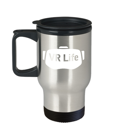 VR Life Virtual Reality 360 Lovers Travel Mug - lkrseller, Travel Mug ,
